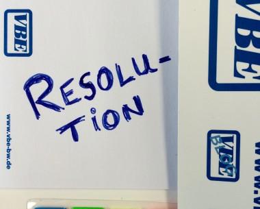 Resolution VBE