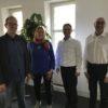 von links: Peter Jock, Frau Anja Born, Herr Dr Rüdiger Stein, Herr Johannes Ruckenbrod (Karlsruher Vorstand des VBE)